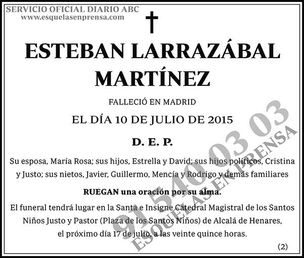 Esteban Larrazábal Martínez